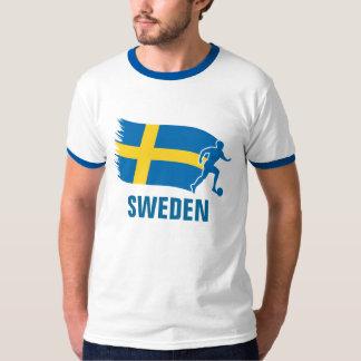 Sweden Soccer Flag T-Shirt
