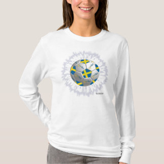 Sweden Soccer Flagball Ladies Long Sleeve T-Shirt