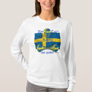Sweden Soccer Game On Ladies Long Sleeve Shirt