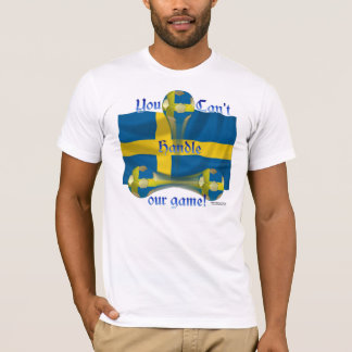 Sweden Soccer Game On Men's T-Shirt