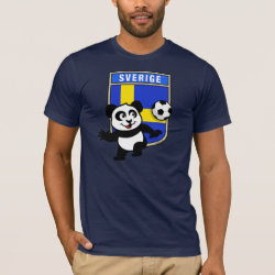 Men's Basic American Apparel T-Shirt with Swedish Football Panda design