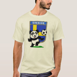 Men's Basic T-Shirt with Swedish Football Panda design
