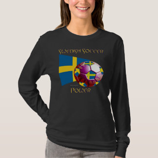Sweden Soccer Power Ladies Nano Long Sleeve Shirt