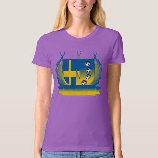 Sweden Soccer Shield3 Ladies Organic T-Shirt