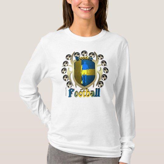 Sweden Soccer Tribal Shield Ladies Long Sleeve T-Shirt