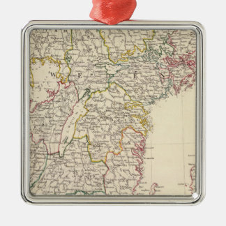 Sweden, southern 2 square metal christmas ornament