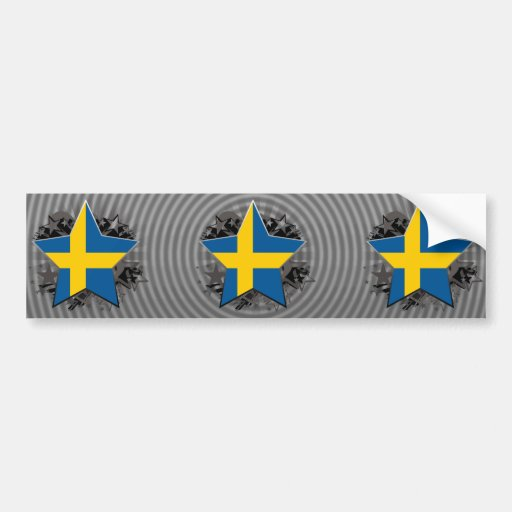 Sweden Star Bumper Stickers