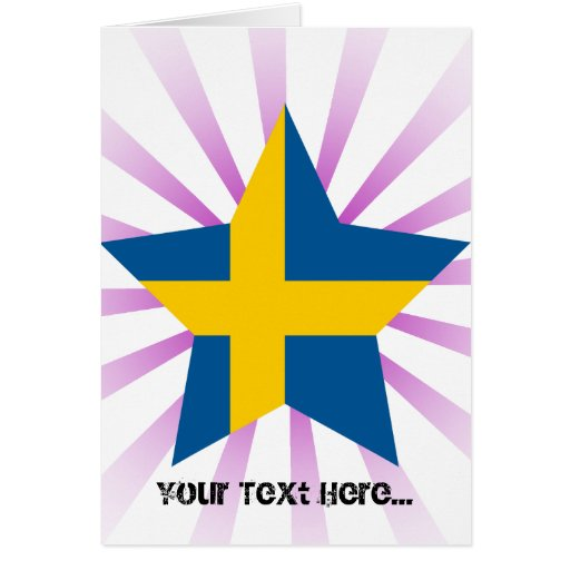 Sweden Star Greeting Cards