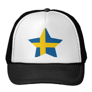 Sweden Star Mesh Hats