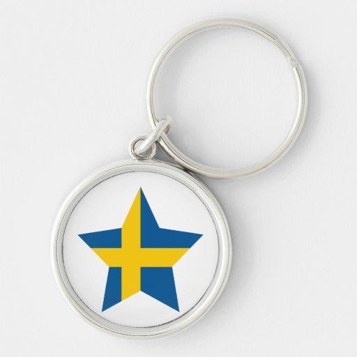 Sweden Star Key Chain