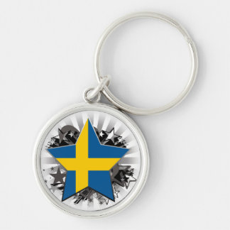 Sweden Star Key Chains