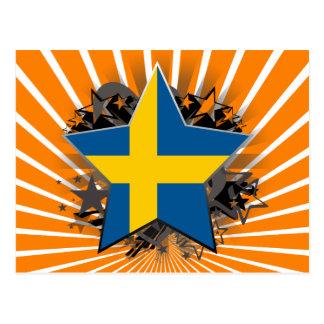 Sweden Star Postcard