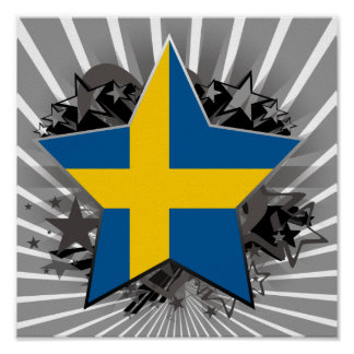 Sweden Star Posters