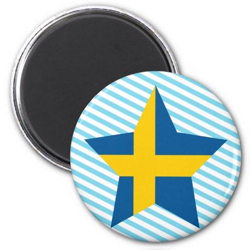 Sweden Star Refrigerator Magnet