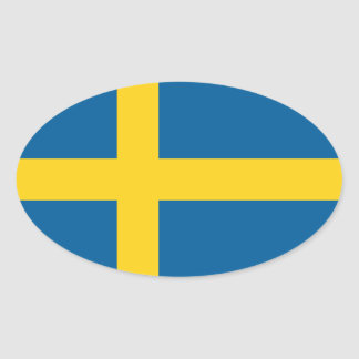 sweden oval stickers