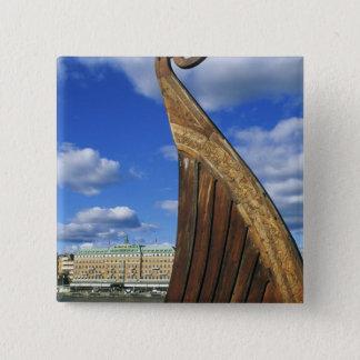 Sweden, Stockholm, harbor, from Gamla Stan, Pinback Button