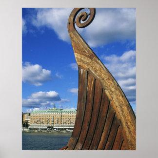 Sweden, Stockholm, harbor, from Gamla Stan, Poster
