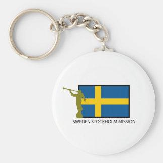 SWEDEN STOCKHOLM MISSION LDS CTR BASIC ROUND BUTTON KEYCHAIN