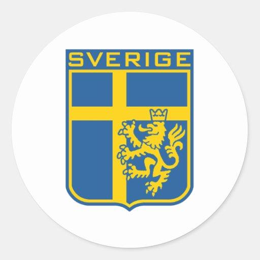 Sweden Sverige Classic Round Sticker