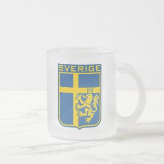 Sweden Sverige Frosted Glass Coffee Mug