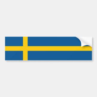 Sweden/Swede/Swedish Flag Car Bumper Sticker