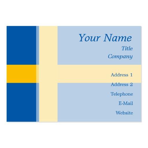 Sweden - Swedish Flag Large Business Card