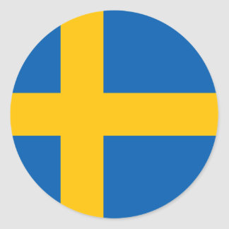 Sweden - Swedish National Flag Round Stickers