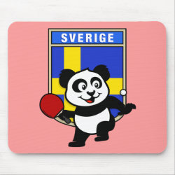 Mousepad with Sweden Table Tennis Panda design