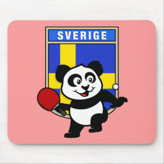 Sweden Table Tennis Panda Mouse Pad