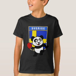 Kids' Hanes TAGLESS® T-Shirt with Sweden Table Tennis Panda design