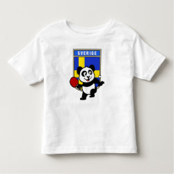 Toddler Fine Jersey T-Shirt with Sweden Table Tennis Panda design