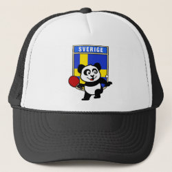 Trucker Hat with Sweden Table Tennis Panda design