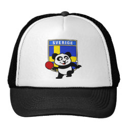 Sweden Table Tennis Panda Trucker Hat