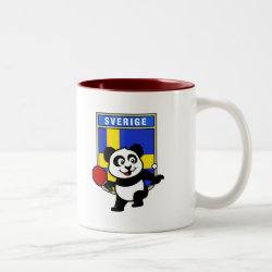 Sweden Table Tennis Panda Two-Tone Mug