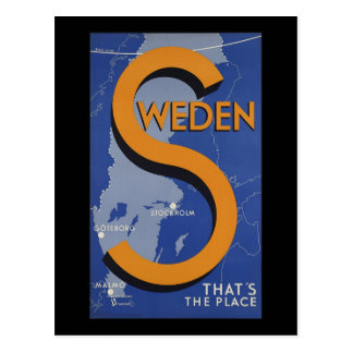 Sweden That's The Place Post Cards