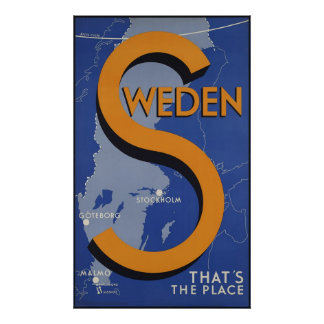 Sweden That's The Place Poster