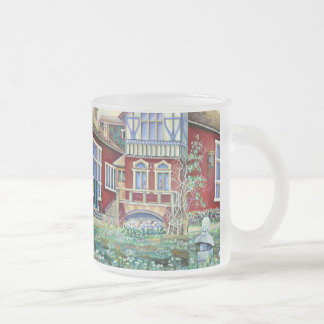 Sweden, Traditional Landscape Frosted Glass Coffee Mug