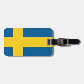 sweden travel bag tag