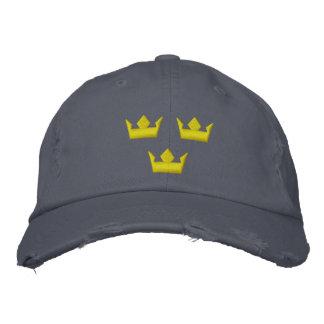 sweden tre kroner stitched hats embroidered hat
