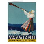 Sweden Varmland Vintage Travel Poster Card