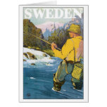 Sweden Vintage Travel Poster