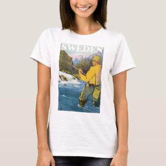 Sweden Vintage Travel Poster T-Shirt