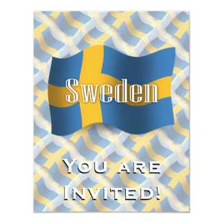 Sweden Waving Flag Card