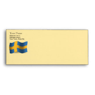 Sweden Waving Flag Envelopes