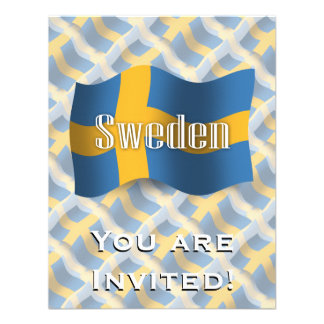 Sweden Waving Flag Custom Announcement