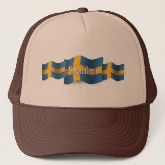Sweden Waving Flag Trucker Hat