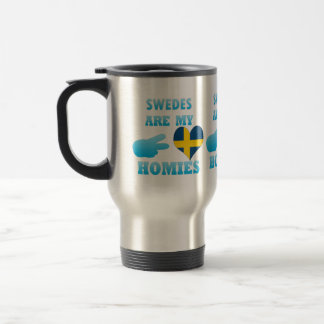 Swedes are my Homies 15 Oz Stainless Steel Travel Mug