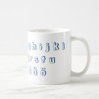 Swedish Alphabet / Svenska Alfabet Coffee Mug