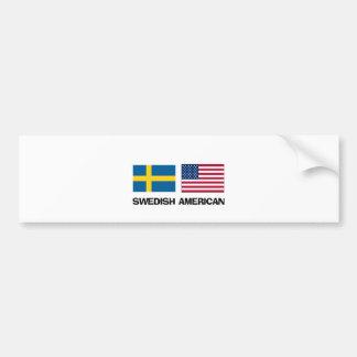 Swedish American Car Bumper Sticker