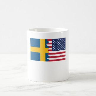 Swedish American Flag Coffee Mug